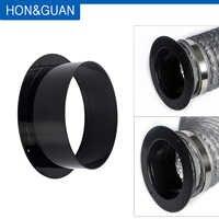 Conector de conducto de ventilación de brida de tubo recto de alta calidad de ABS de 4-6 pulgadas Hon & Guan; 100mm/125mm/150mm