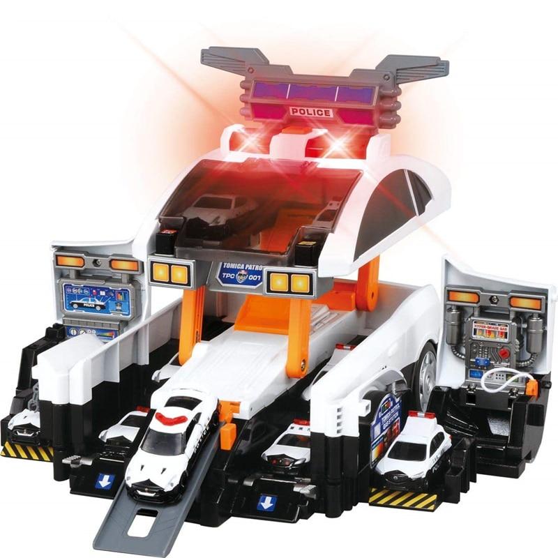 Takara tomy tomica деформационная полицейская патрульная машина, игрушка для литья под давлением, Развивающие детские игрушки, горячая поп машина, безделушка, модель, набор, коллекционные вещи - 5