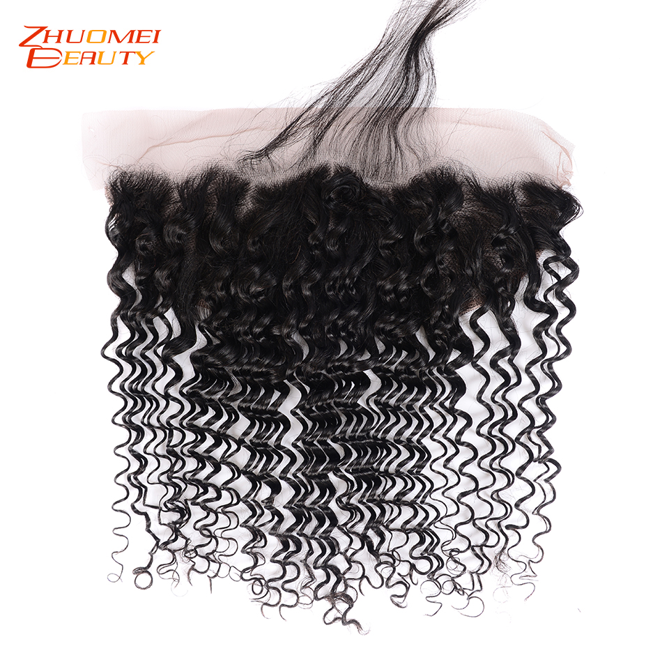 Pre Plucked Brazilian Deep Wave Frontal Closure Remy Human Hair Frontal 13x4 Lace Frontal Closure With Baby Hair 8 22inch