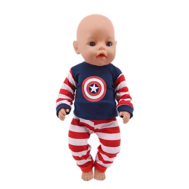 ملابس دمى و تأثيري زي ملابس دمى ل 18 بوصة دمى الأمريكية و 43 سنتيمتر zaps دمى طفل ولد