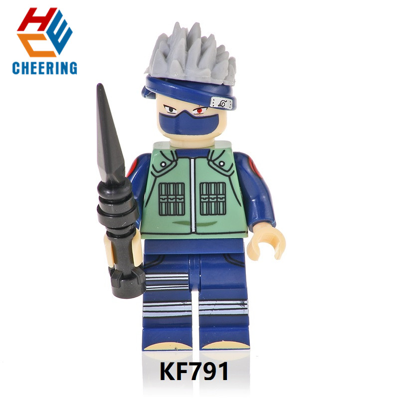 Single Sale Building Blocks Famous Anime Naruto Character Uzumaki  Uchicha Jiraiya  Models Toys Gift For Children KF791