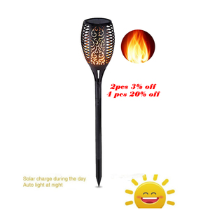 Solar powered LED Flame Lamp Waterproof 33LEDs Lawn Flame Flickering Torch Light Outdoor Solar LED Fire Lights Garden Decoration(China)