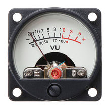 Stable Electrician Measuring Level Amp Gauge VU Meter Back Light Testing With Panel Industry Audio Circuit Warm Bulb Accurate(China)