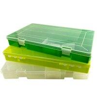 Caja de 2 tamaños de Señuelos de Pesca de una sola capa DIY caja de aparejos de pesca de gran capacidad caja de almacenamiento de Señuelos de Pesca B284 Cajas de instrumentos de pesca Deportes y entretenimiento -