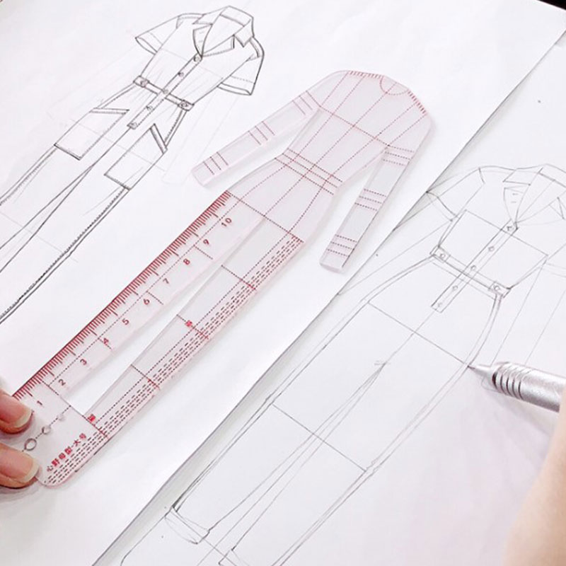 Women Drawing Ruler Figure Drawing Template For Design Fashion Sketch Template Painting