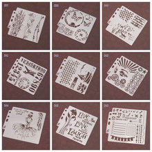 1pcs Layering Stencils For Walls Painting Scrapbooking Stamps Album Decorative Embossing Paper Cards DIY kids drawing template