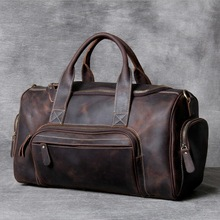 Travel-Bag Shoe-Duffle-Bag Black Designer MAHEU Genuine-Leather Business-Trip New-Fashion