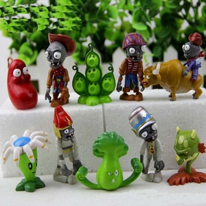 Image 5 - Hot 40Pcs/set Plants vs Zombies PVZ Toy Plants Zombies PVC Action Figures Toy Doll Set for Collection Party Decoration