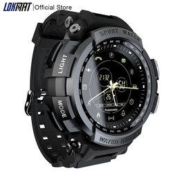 Nuevo reloj inteligente LOKMAT para deportes 50m impermeable con recordatorio de llamadas Bluetooth para hombres, reloj inteligente para teléfonos ios y Android