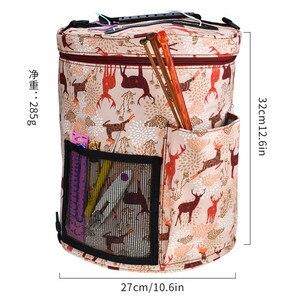 Image 4 - 14 Styles Knitting Bag Yarn Organizer Bag For Wool Crochet Hooks Knitting Needles Sewing Set DIY Yarn Balls Storage Bag