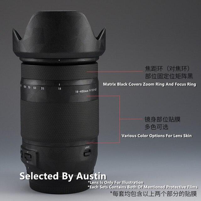 Lensi cilt çıkartması Wrap filmi koruyucu için Tamron 18 400 EF dağı Anti scratch Sticker