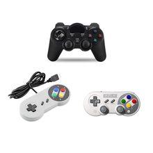 Manette de jeu OTG sans fil 2.4 ghz pour téléphone intelligent, Joystick, contrôleur de jeu pour USB SNES et SN30 Pro