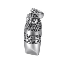 925 sterling silver Owl Whistle buddha necklace pendant for men women Vintage jewelry zabra 925 sterling silver jesus cross pendant religion necklace for men women christianity vintage jewelry