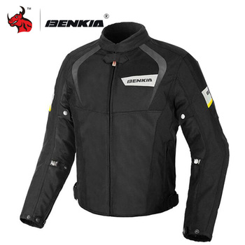 BENKIA Motorcycle Jacket Protective Gear Motocross Off-Road Racing Jacket Summer Men Moto Jacket Motorbike Riding Moto Clothing motorcycle jacket men summer moto protective gear jacket men racing reflective oxford clothing motorbike jackets