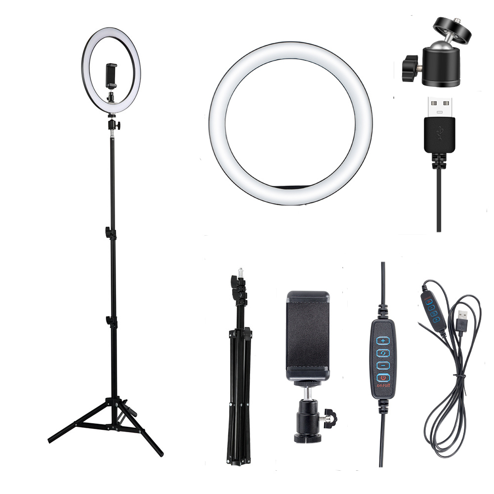 12W LED Selfie Ring Novelty Light Photo Studio Photography Photo Fill Ring Lamp With Tripod For Yotube Live Video Makeup