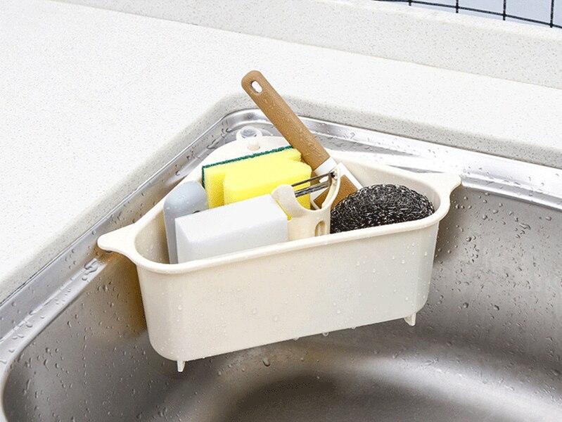 Высокая емкость треугольник всасывающий слив держатель губок на раковине Ecoco раковина органайзер Все для кухни Cocina кухонный инструмент