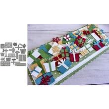 Noworoczny prezent zestaw pudełek wykrojniki szablon do wytłaczania do metalu wykrojniki Diy Die papier do scrapbookingu Cut najnowsze