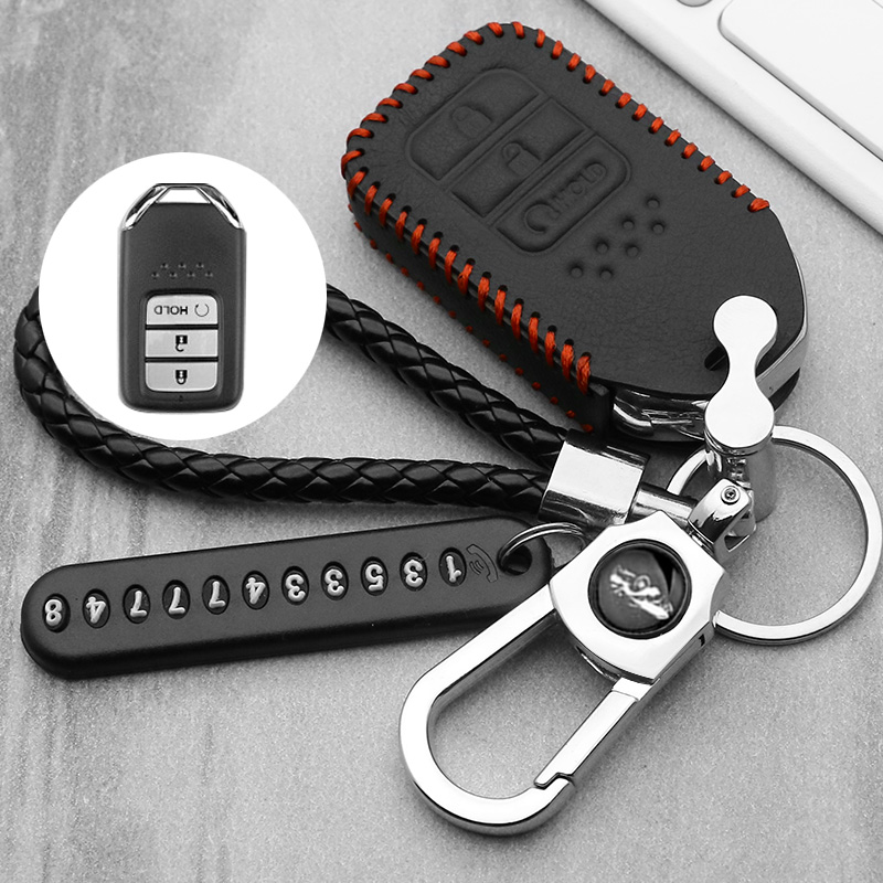 New car <font><b>remote</b></font> key fob cover case holder protect for <font><b>Honda</b></font> 2016 2017 CRV Pilot Accord Civic Fit Freed <font><b>keyless</b></font> entry car styling image