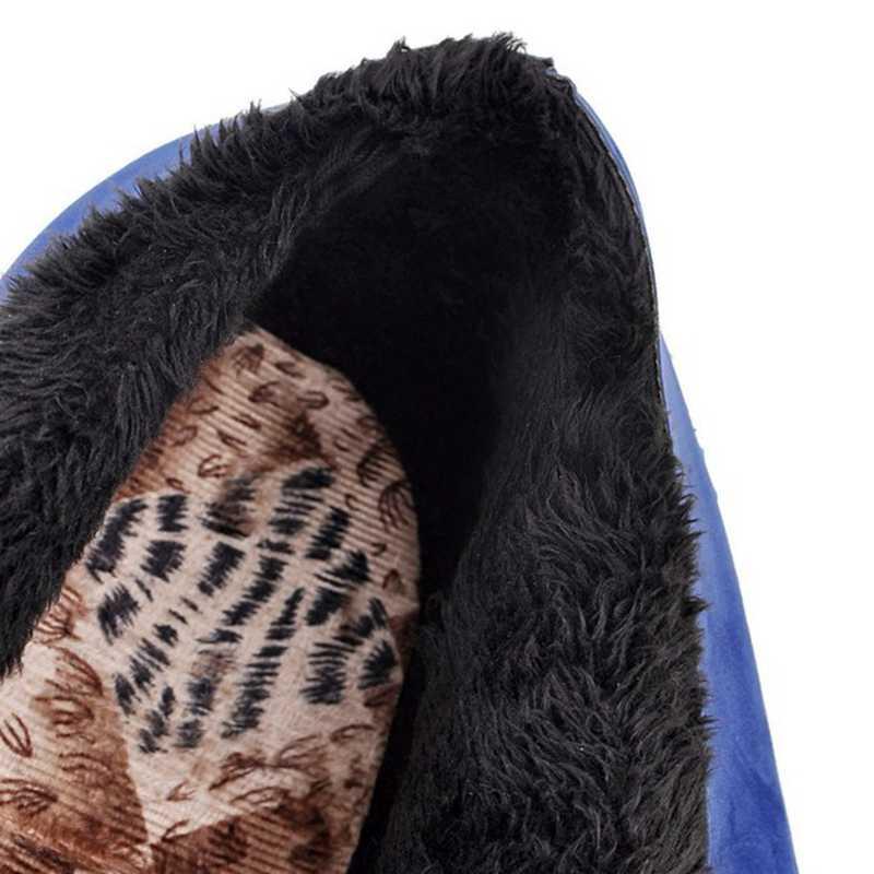 REAVE kedi kadın kış yarım çizmeler yuvarlak ayak 7cm takozlar akın Lace up çapraz bağlı büyük boy 33- 43 rahat parti A2852