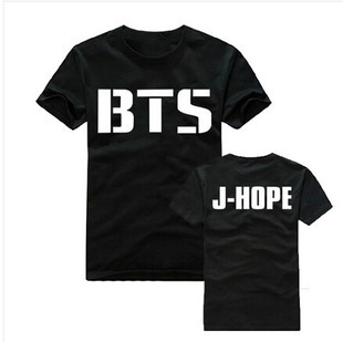 <font><b>AliExpress</b></font> Hot Selling Multi-Size BTS Celebrity Style Short Sleeve T-shirt Bulletproof Boys Related Products Pure Cotton High Qu image
