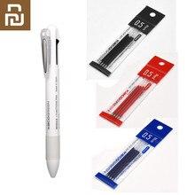Xiaomi mijia kaco 4 em 1 multifunções canetas 0.5mm preto azul vermelho recarga gel caneta lápis mecânico japonês tinta escritório escola