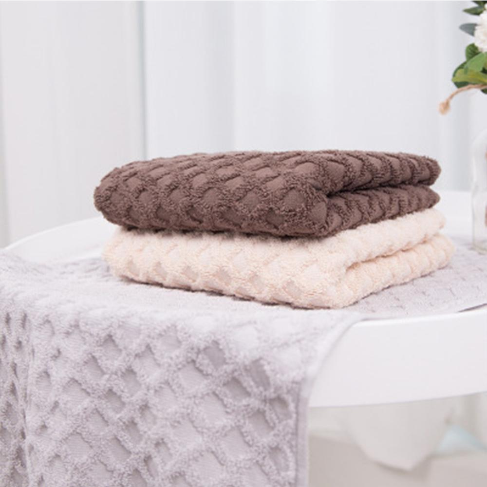Solid100% Cotton 3 Colors High Absorbent Face Towel Thick Cotton Solid Bath Towel Beach Towel For Adults Quick Dry Soft