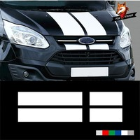 Gloss Auto Side Car Sticker for Ford Bs229 Custom Transit Silver Cap Racing Stripes Decal Sticker Graphics Car Accessories