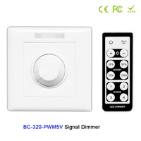 AC85-265V Wall-mounted Knob style led PWM 5V / PWM 10V Signal Dimmer Controller with IR remote;switch set for led strip light