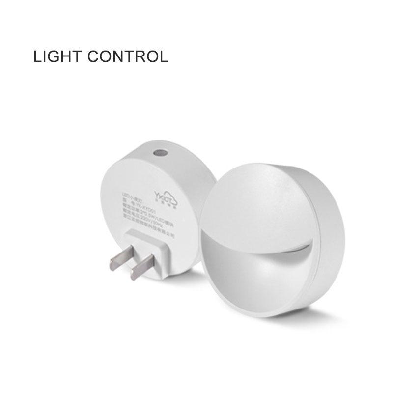 LED Night Light Wall Charger Plug Power-Saving Dusk To Dawn Sensor Wall Lamp EU/US Plug Socket Lamps Toilet Light @