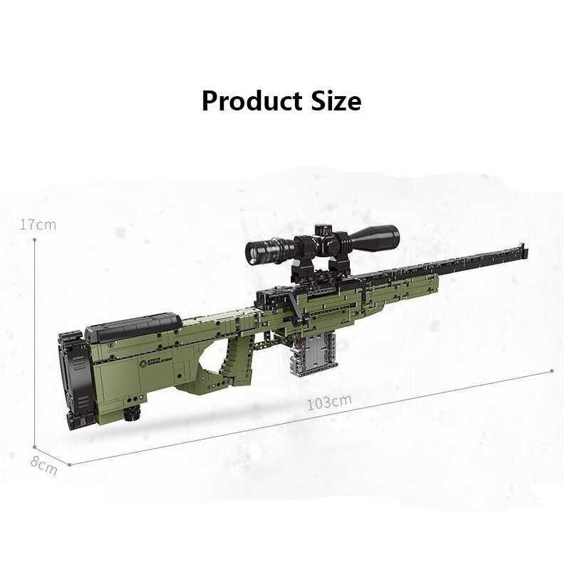 2020 neue Bausteine SWAT Set Militär Technik WW2 Waffe AWM Sniper Modelle PISTOLE Ziegel Spielzeug für Kinder Jungen