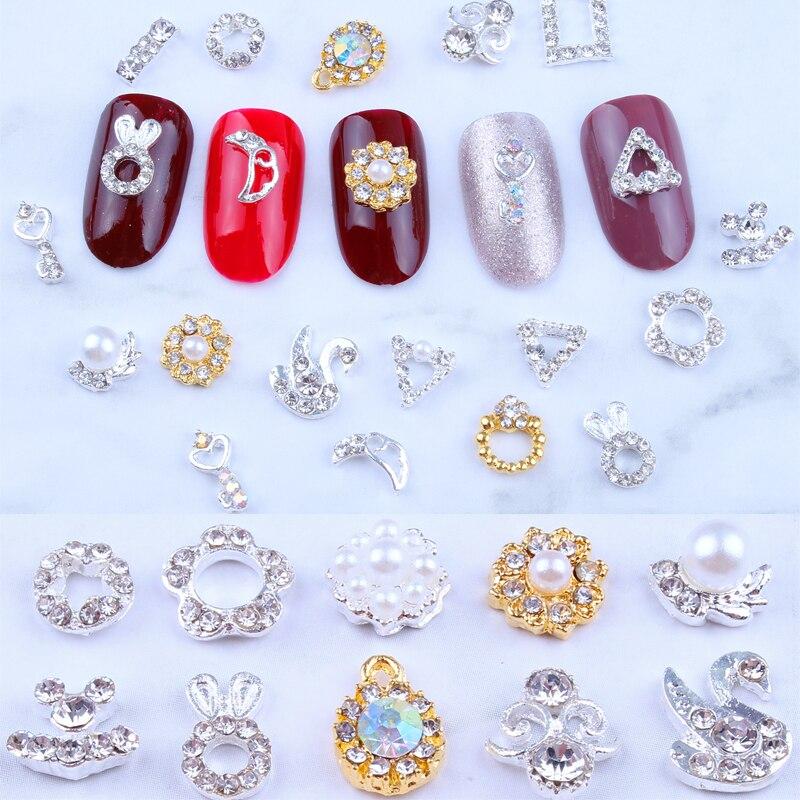 100 шт 5 3d украшения для ногтей стразы хрустальные драгоценные
