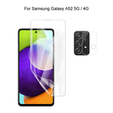 For Samsung Galaxy A52 5G / 4G Camera Protection & Screen Protector HD Hydrogel Film Soft 3D Full Cover Curved Guard