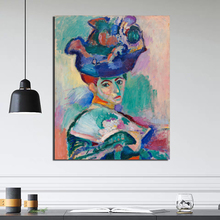 Henri Matisse Woman With A Hat Canvas Painting Print Living Room Home Decoration Modern Wall Art Oil Posters Picture HD