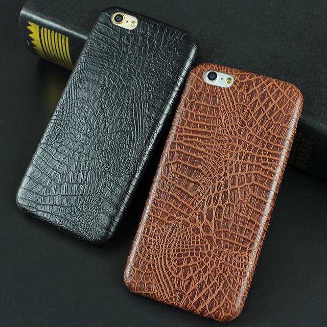 Slim Snake Crocodile PU Leather Case For iPhone