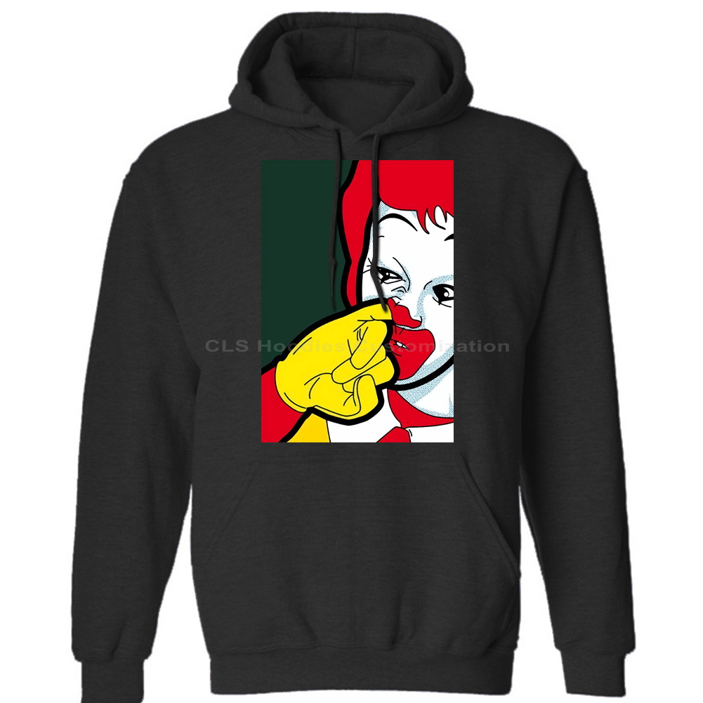 Ronald Mcdonald Nose Picking Clown Parody Funny Pop Art Mens Unisex (Womens) Winter Hoodies Sweatshirts Free Shipping