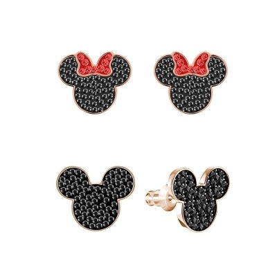 2pcs/ Lot Disney Doll Accessories Mickey Cartoon Lady Stud Earring Women Fashion  Gift Jewelry Lovely Minnie Pendant