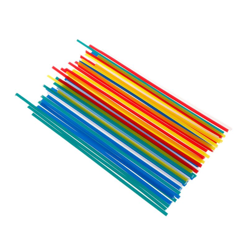 50pcs/set Plastic Welding Rods Welding Sticks For Welder Tools Random Color