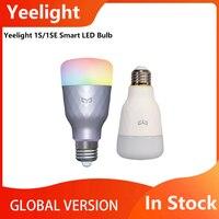Yeelight-bombilla LED inteligente de colores 1S/1SE, 800 lúmenes, 8,5 W, E27, Control remoto por voz, asistente de Google