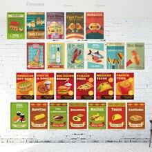 Placa de póster metálica para alimentos, cartel de hojalata Vintage para decoración de pared, Bar, Bistro, café, cartel Retro de Metal, decoración del hogar