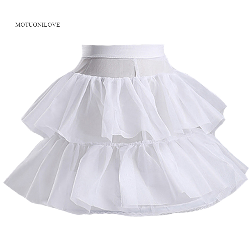 Jupon Little Flower Girl Petticoats Short Children Skirt 40CM Length Baby Kids White Underskirt Crinoline Wedding Accessories