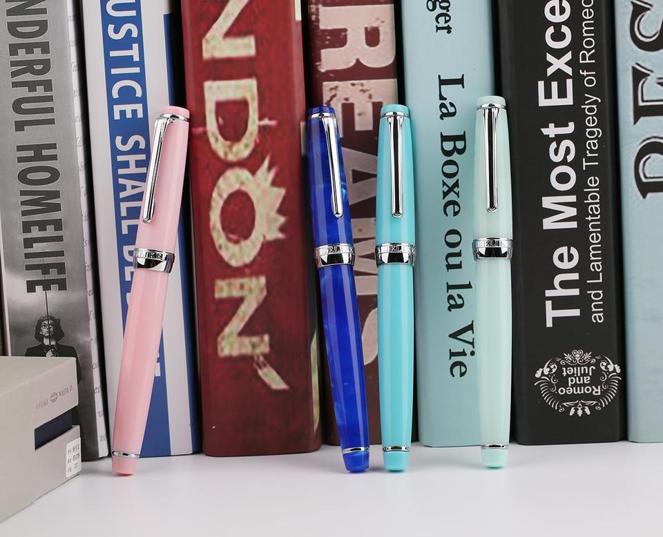 2019 Moonman Delike New Moon Resin Fountain Pen EF//F//Bent Nib Ink Pen Gift Box