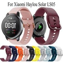 Ремешок силиконовый для наручных часов haylou solar ls05 спортивный