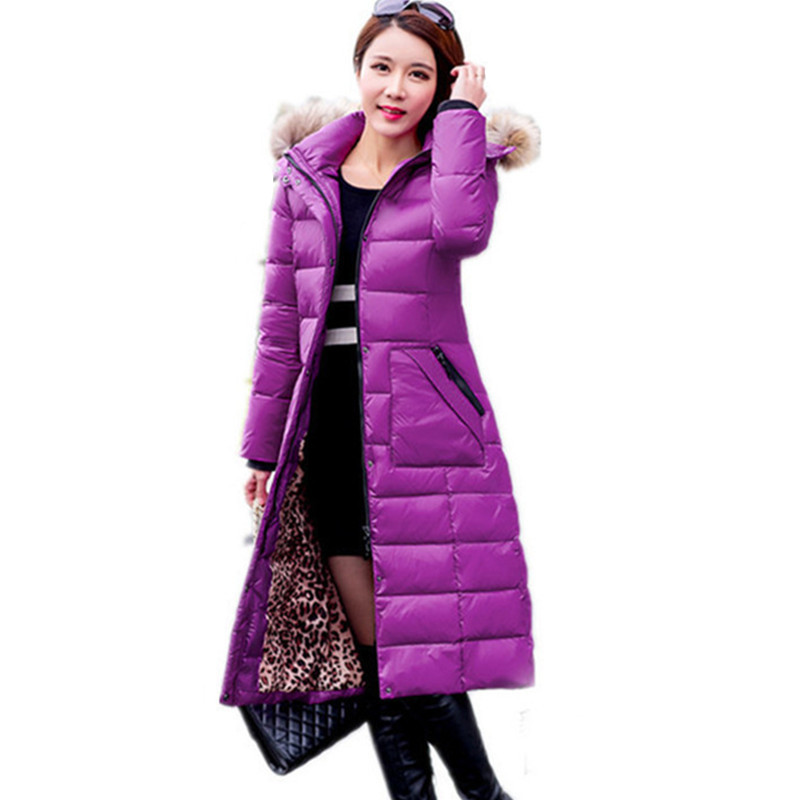 Quality High Women Hooded Slim Coat White Duck Down Jacket Winter Female Warm Coats Casacos De Inverno Feminino WXF155 S