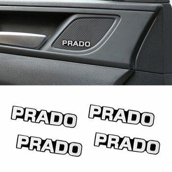 4 шт. Автомобильная декоративная 3D алюминиевая эмблема, Наклейка для Toyota prado 120 fj150 land cruiser 80, автомобильные аксессуары