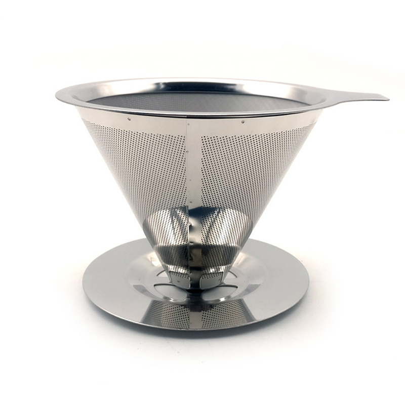 Reusable Coffee Filter Paperless Pour Over Coffee Dripper Stainless Steel Holder Metal Mesh Funnel Baskets Coffee Filter Cup