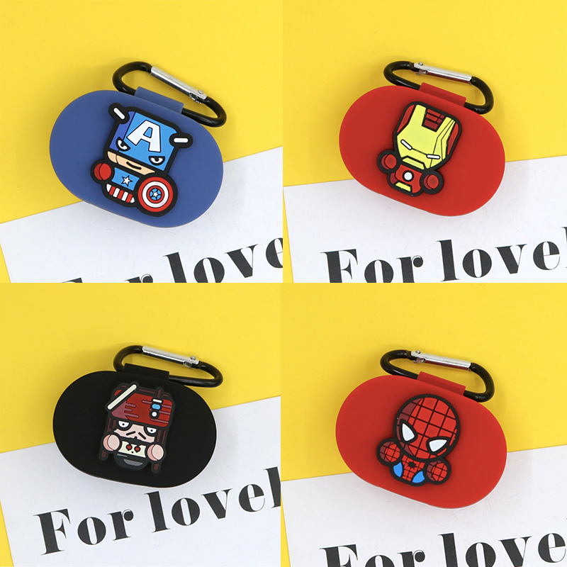 The Avengers Earphone Cover For Redmi Airdots Case Cute Protection Frame For Xiaomi Airdots Cases For Mi Air Dots With Keychain