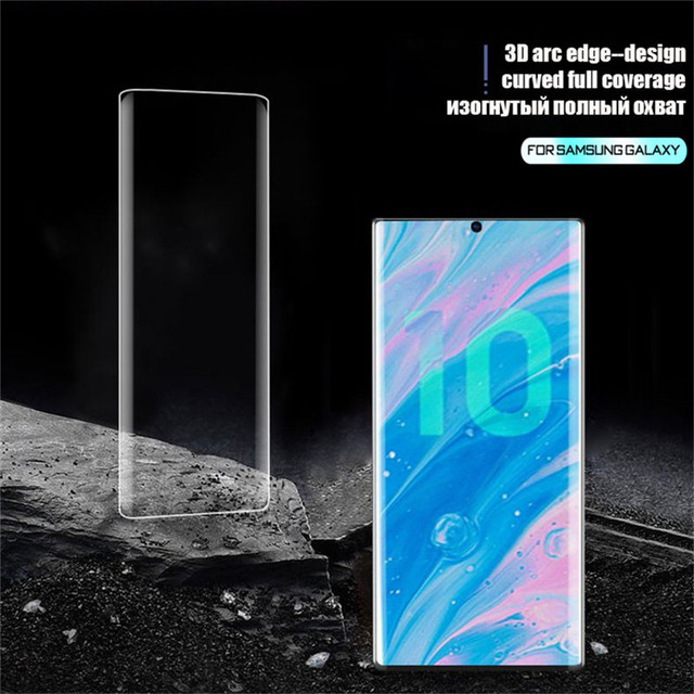 120D Full Cover Tempered Glass For Samsung Galaxy S10 S9 S8 Plus S10E Screen Protector For Samsung Note 20 Ultra 8 9 10 S20 Film 2