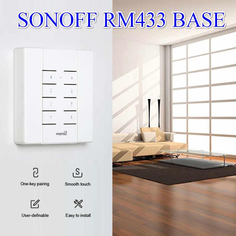 La télécommande multifonctionnelle de la coutume 433 MHz RF de la BASE 8 de SONOFF RM433 fonctionne avec le pont de RF/slam/4CH Pro/TX Series/RF
