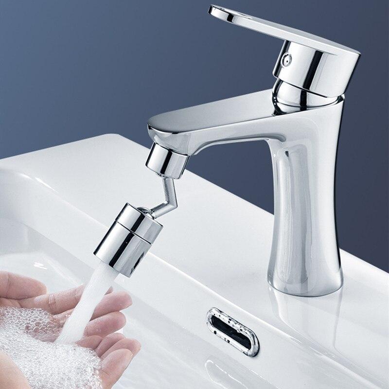 Аэратор для крана с поворотом на 720 °, универсальный водосберегающий поворотный аэратор с защитой от брызг для ванной комнаты, фильтр для пе...