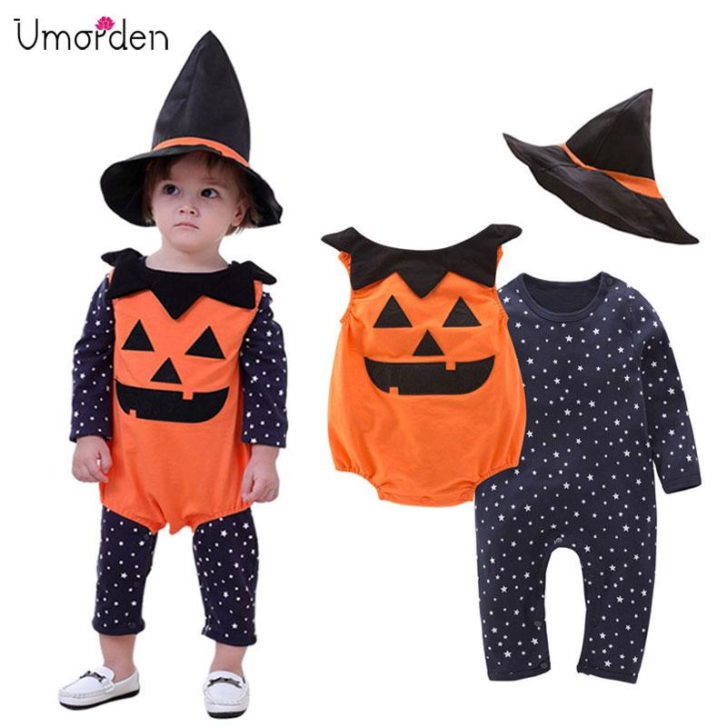 Infant Pumpkin Costume | Umorden Pumpkin Costume Rompers For Baby Boys Girls Toddler Infant Halloween Christmas Birthday Party Cosplay Fancy Dress